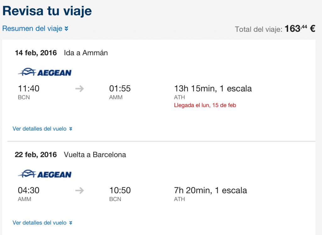Vuelos baratos Barcelona Jordania