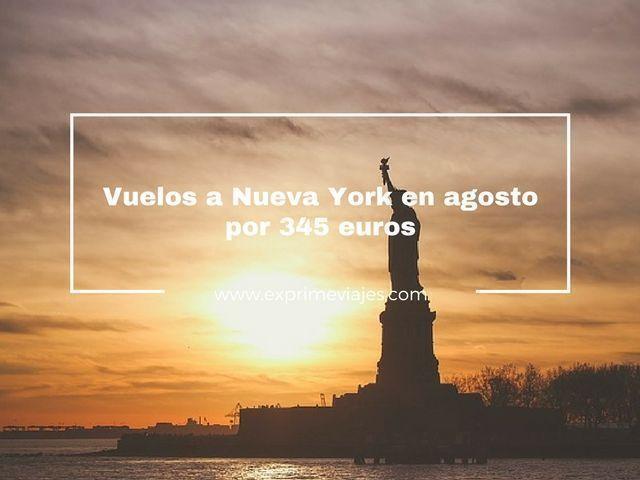 VUELOS BARATOS A NUEVA YORK EN AGOSTO POR 345EUROS