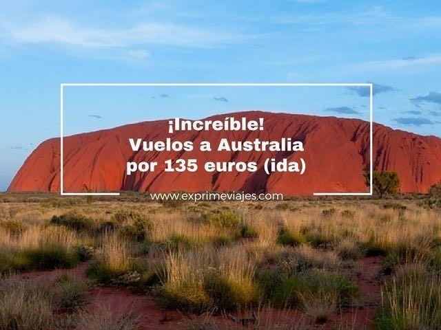 ¡INCREÍBLE! VUELOS A AUSTRALIA POR 135EUROS (IDA) DESDE ATENAS