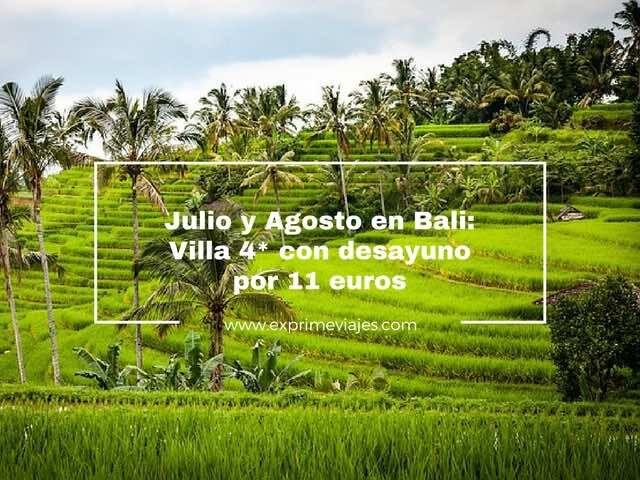 JULIO Y AGOSTO EN BALI: VILLA 4* CON DESAYUNO POR 11EUROS