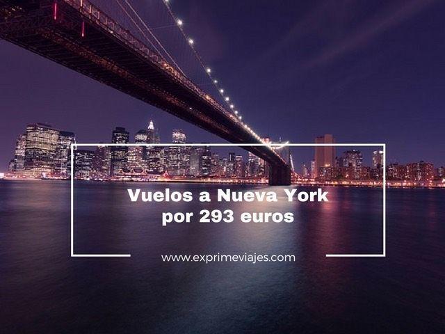 VUELOS A NUEVA YORK POR 293EUROS