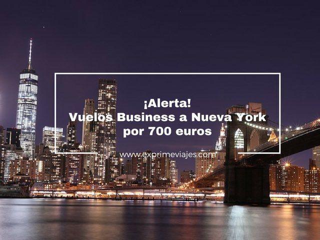 ¡ALERTA! VUELOS EN BUSINESS A NUEVA YORK POR 700EUROS