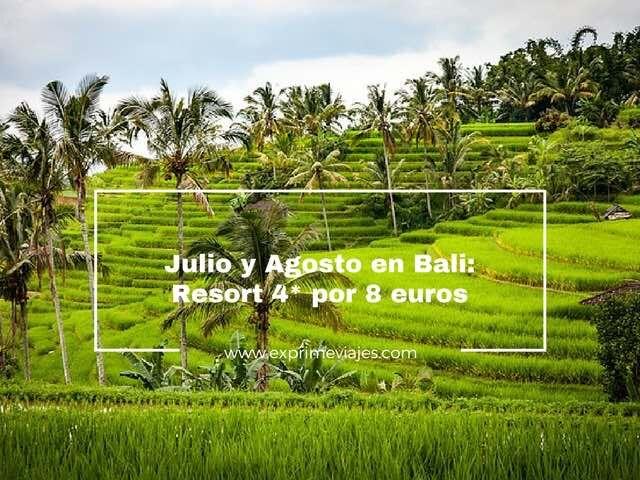 BALI EN JULIO Y AGOSTO: RESORT 4* POR 8EUROS
