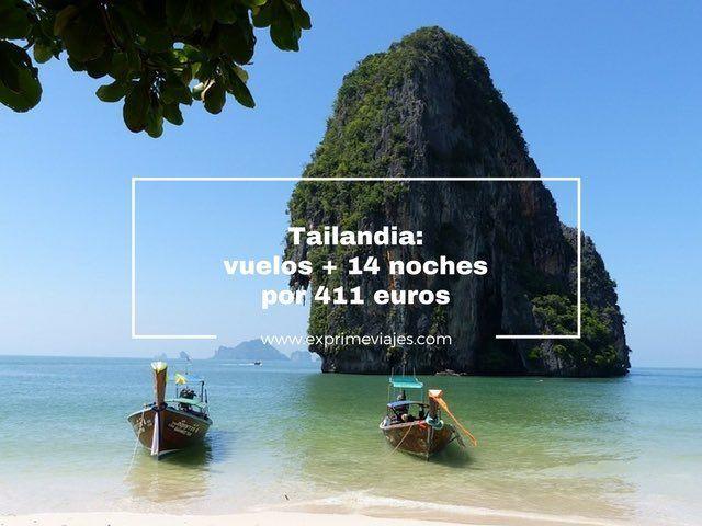 TAILANDIA VUELOS + 14 NOCHES BUNGALOW PLAYA POR 411EUROS