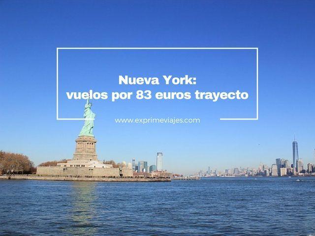 ¡INCREÍBLE! VUELOS A NUEVA YORK POR 83EUROS TRAYECTO