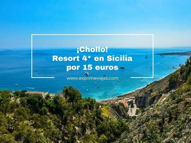 ¡CHOLLO! RESORT 4* EN SICILIA POR 15EUROS