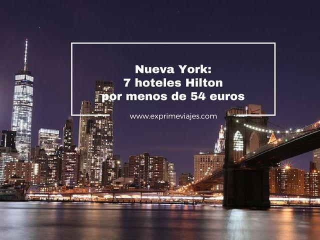 7 HOTELES HILTON EN NUEVA YORK POR MENOS DE 54EUROS