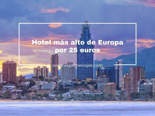 DUERME EN EL HOTEL MÁS ALTO DEEUROPA POR 25EUROS