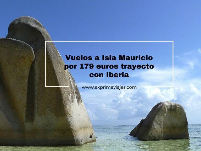 ¡WOW! VUELOS A MAURICIO POR 179EUROS TRAYECTO CON IBERIA
