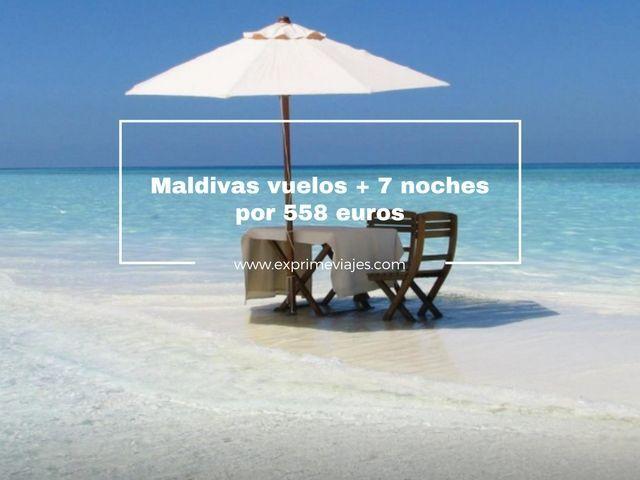 MALDIVAS: VUELOS + 7 NOCHES POR 558EUROS