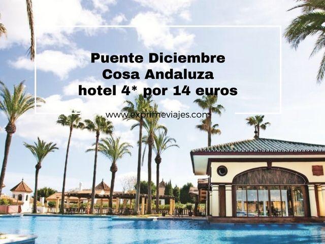 PUENTE DICIEMBRE COSTA ANDALUZA HOTEL 4* POR 14EUROS