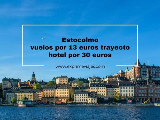 ESTOCOLMO: VUELOS POR 13EUROS TRAYECTO Y HOTEL POR 30EUROS