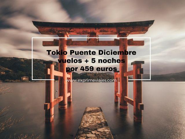 TOKIO PUENTE DICIEMBRE: VUELOS + 5 NOCHES POR 459EUROS