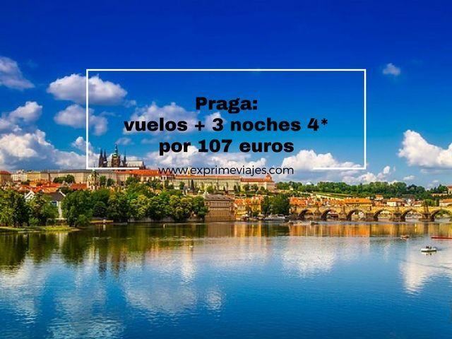 PRAGA: VUELOS + 3 NOCHES 4* POR 107EUROS