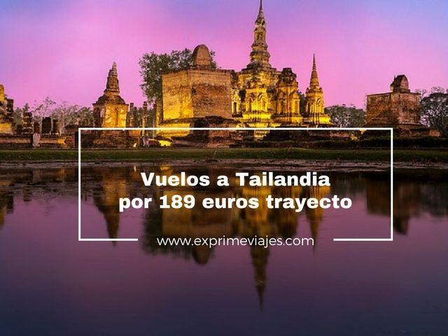 VUELOS A TAILANDIA POR 189EUROS TRAYECTO