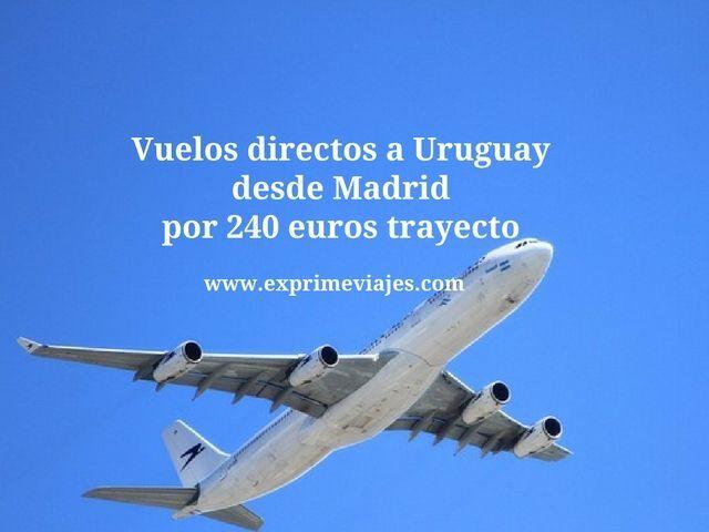 VUELOS DIRECTOS A URUGUAY DESDE MADRID POR 240EUROS TRAYECTO