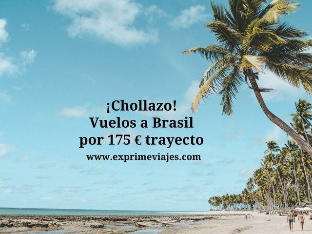 ¡CHOLLAZO! VUELOS A BRASIL POR 175EUROS TRAYECTO
