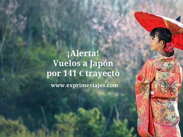 ¡ALERTA! VUELOS A JAPÓN POR 141EUROS TRAYECTO
