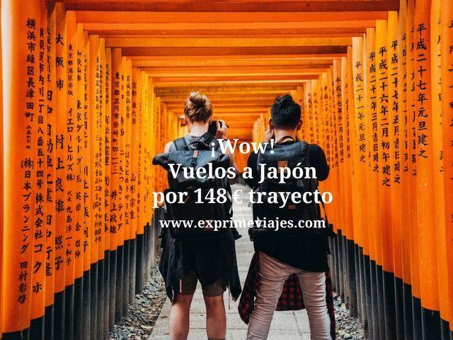 ¡WOW! VUELOS A JAPÓN POR 148EUROS TRAYECTO