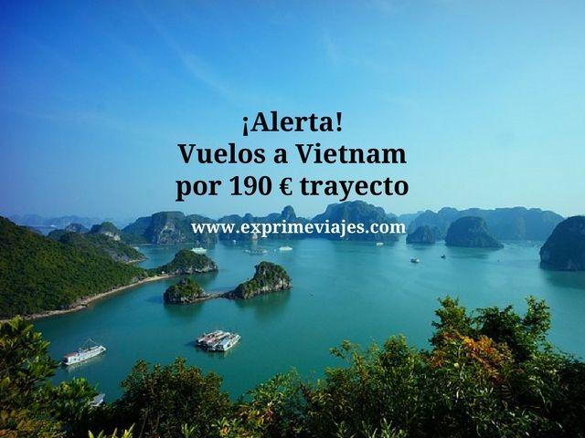 ¡ALERTA! VUELOS A VIETNAM POR 190EUROS TRAYECTO