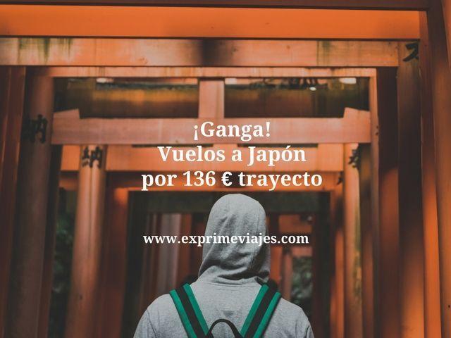 ¡GANGA! VUELOS A JAPÓN POR 136EUROS TRAYECTO
