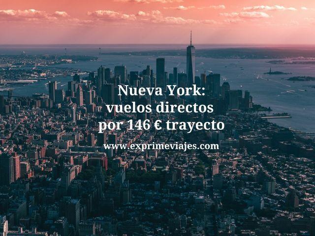 NUEVA YORK: VUELOS DIRECTOS POR 146EUROS TRAYECTO