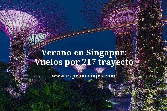 SINGAPUR EN VERANO: VUELOS POR 217EUROS TRAYECTO