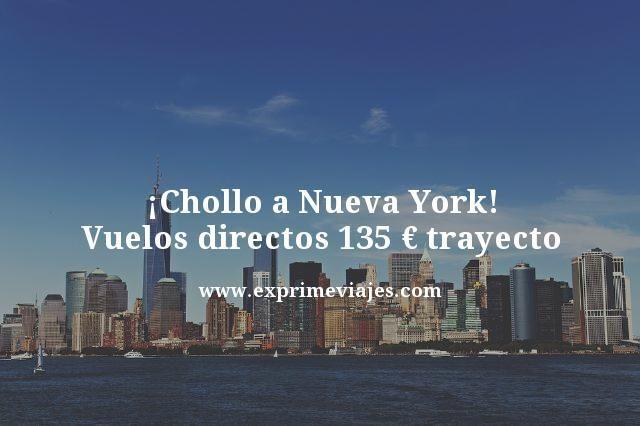 ¡CHOLLO! NUEVA YORK: VUELOS DIRECTOS POR 135EUROS TRAYECTO