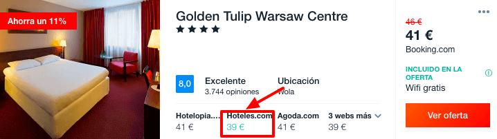 hotel barato varsovia 4 estrellas