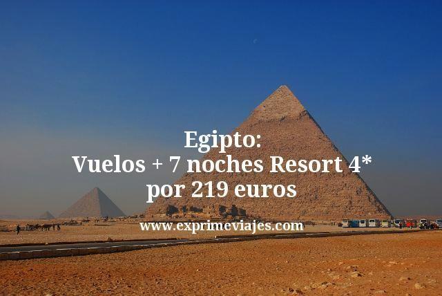 ¡Chollazo a Egipto! Vuelos + 7 noches Resort 4* por 219euros