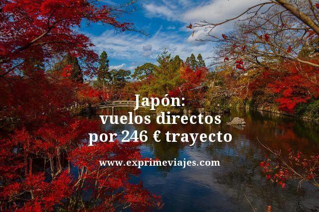 JAPÓN: VUELOS DIRECTOS POR 246EUROS TRAYECTO
