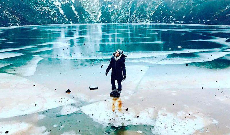 Julia Gil volcán islandia exprimeviajera del mes