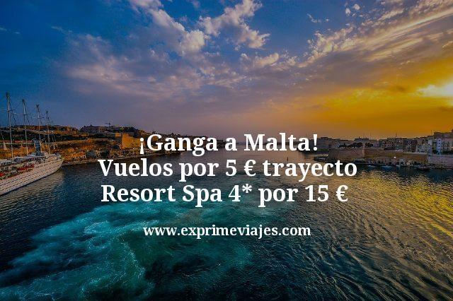 ¡Alerta! Vuelos a Malta por 5€ trayecto; Resort Spa 4* por 15€