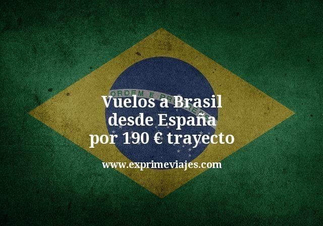¡Wow! Vuelos a Brasil por 190€ trayecto