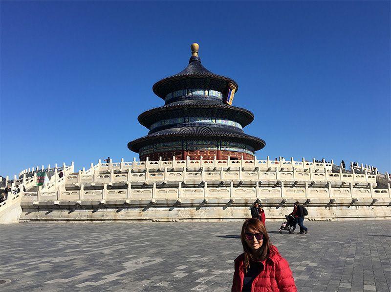En el Templo del Cielo de Pekín (China)