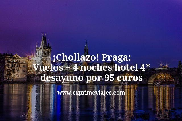 ¡Chollazo! Praga: Vuelos + 4 noches hotel 4* desayuno por 95euros