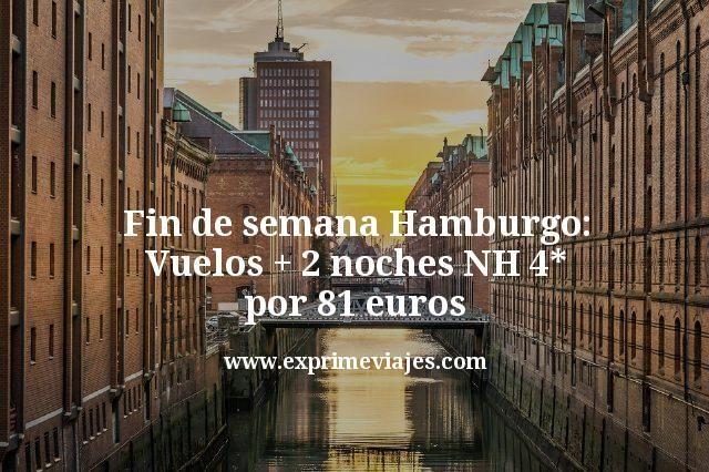 Fin de semana Hamburgo: Vuelos + 2 noches NH 4* por 81euros