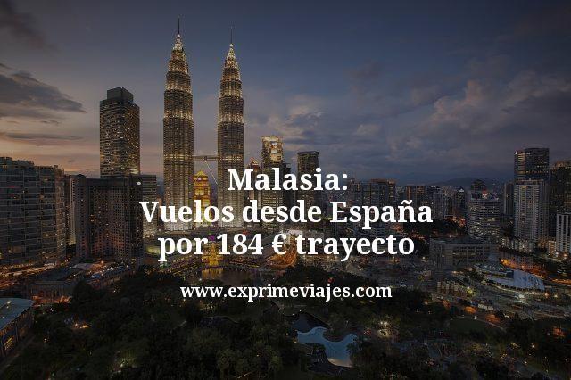 Malasia: Vuelos desde España por 184euros trayecto