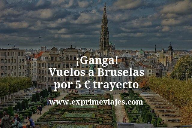 ¡Ganga! Vuelos a Bruselas por 5euros trayecto