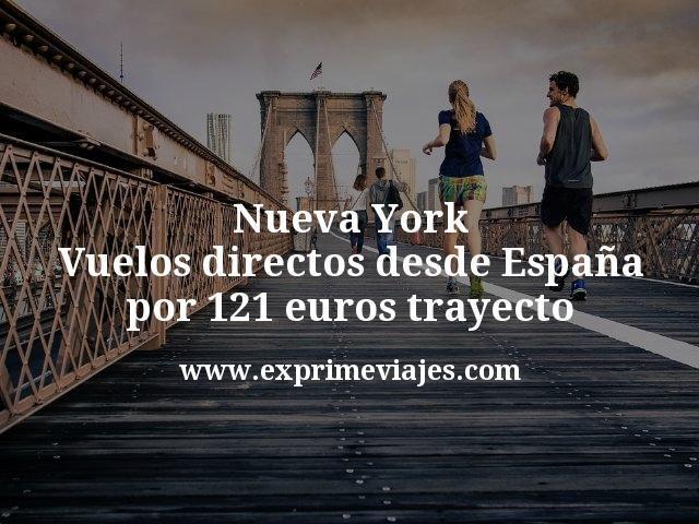 Nueva York: Vuelos directos desde España por 121euros trayecto