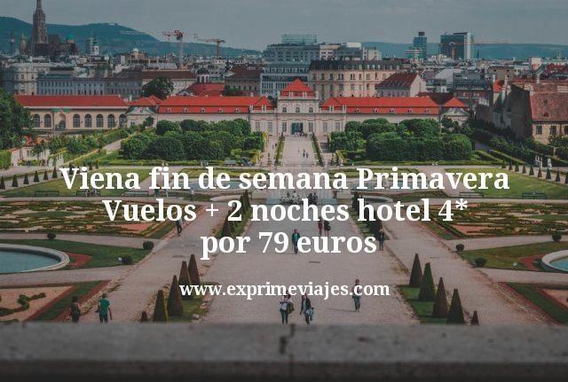 Viena fin de semana en primavera: Vuelos + 2 noches hotel 4* por 79€