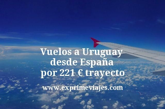 Vuelos a Uruguay desde España por 221€ trayecto