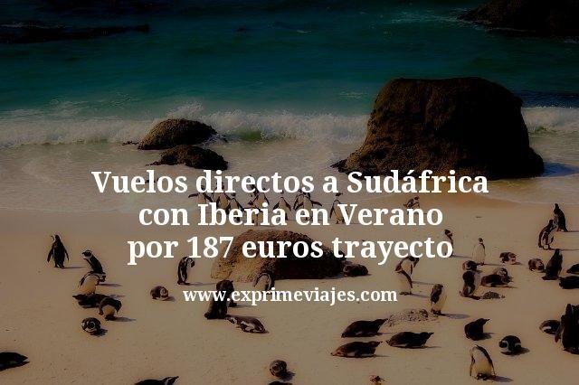 Vuelos directos a Sudáfrica con Iberia en Verano por 187€ trayecto