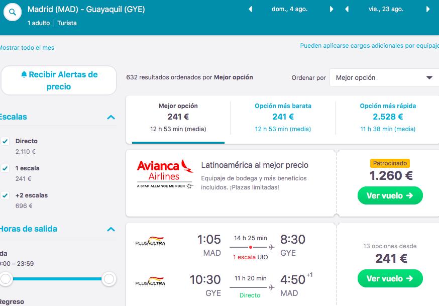 Vuelos a Perú tarifa error avión