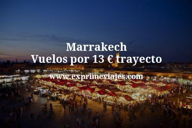 ¡Wow! Marrakech: Vuelos por 13euros trayecto