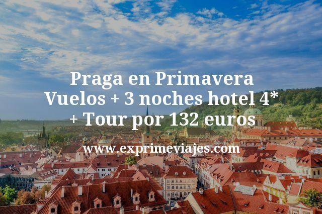 Praga en Primavera: Vuelos + 3 noches hotel 4* + Tour por 132€