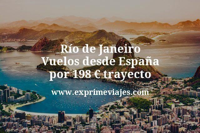 Río de Janeiro: Vuelos desde España por 198euros trayecto