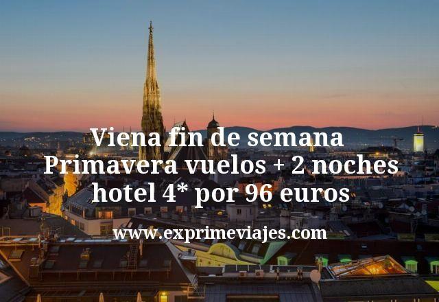 Fin de Semana en Viena: vuelos + 2 noches 4* por 96euros