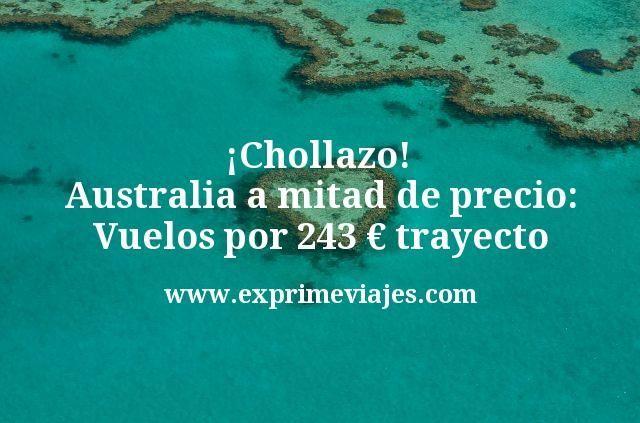 ¡Chollazo! Australia a mitad de precio: vuelos por 243€ trayecto