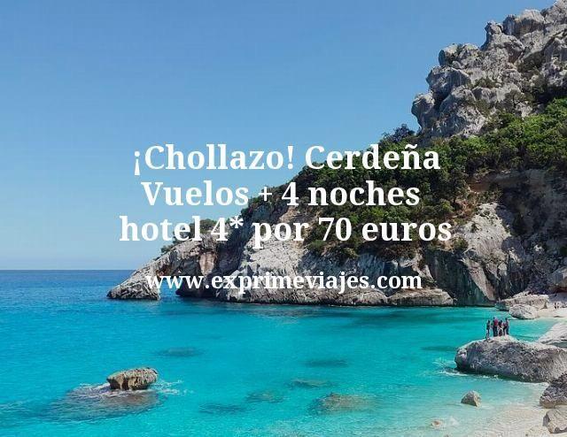 ¡Chollazo! Cerdeña: Vuelos + 4 noches hotel 4* por 70euros